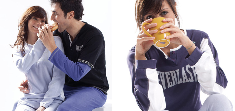 foto modelli in pigiama