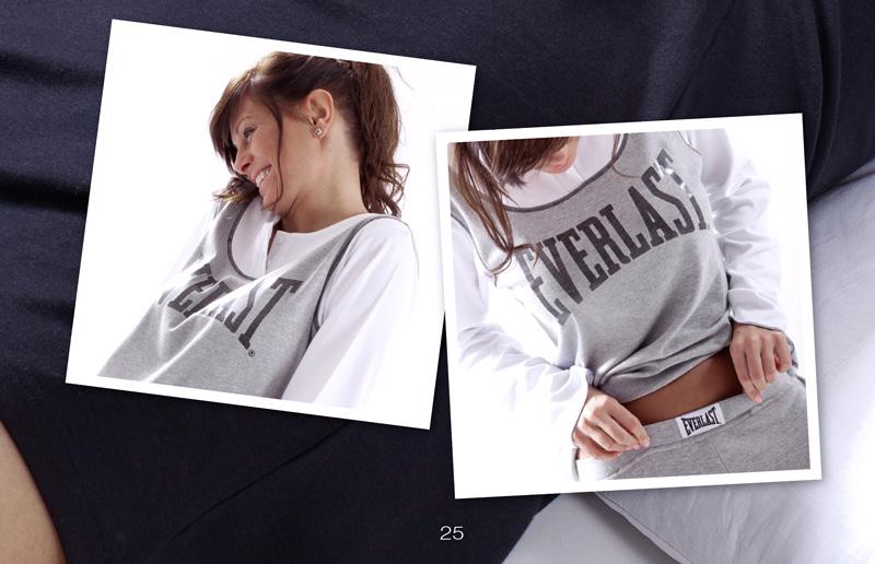 foto modella pigiama